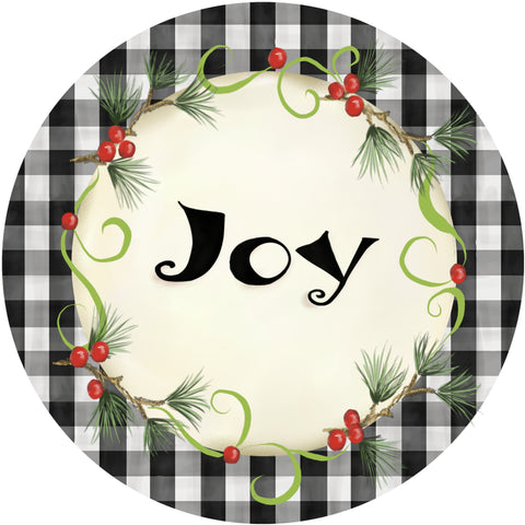 Holiday Splendor- Buffalo Check Joy on White