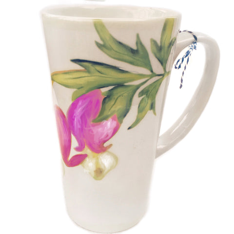 Latte Mug- Summer Blooms- Bleeding Heart