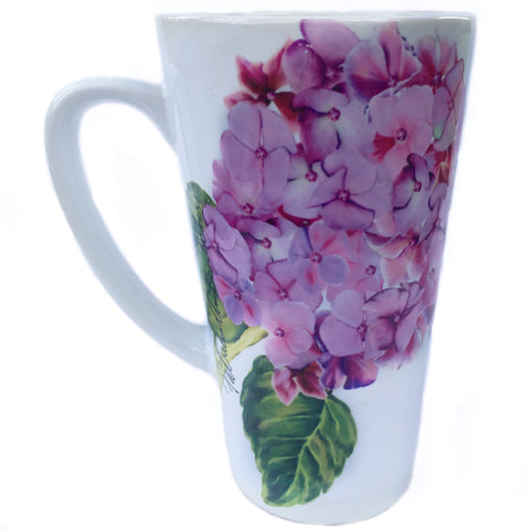 Latte Mug- Summer Blooms- Hydrangea Purple