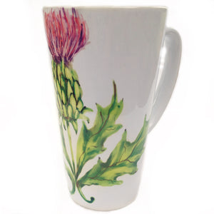 Latte Mug- Summer Blooms- Thistle