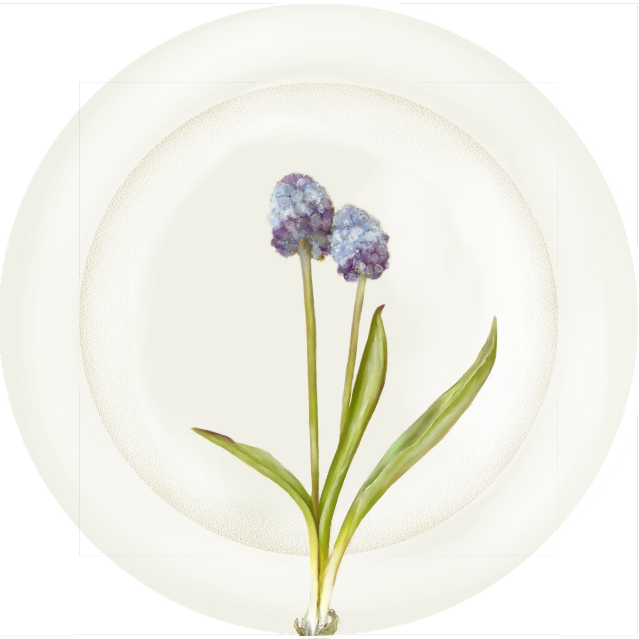 "Summer Blooms - Blue Mini Globe 10"" Dinner Plate"