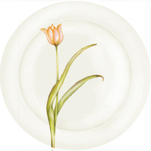 "Summer Blooms - Tulip #1 - 10"" Dinner Plate"