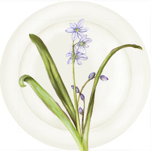 "Summer Blooms - Blue Hyacinth 10"" Dinner Plate"