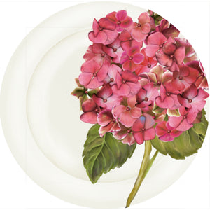 "Summer Blooms - Hydrangea Rose - 10"" Dinner Plate"