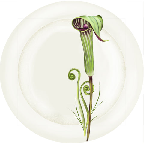 "Summer Blooms - Jack in the Pulpit - 10"" Dinner Plate"