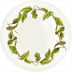 "Summer Blooms - Leaves - 10"" Dinner Plate"