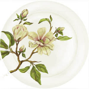 "Summer Blooms - Magnolia - 10"" Dinner Plate"