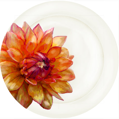 "Summer Blooms - Mum #1 - 10"" Dinner Plate"