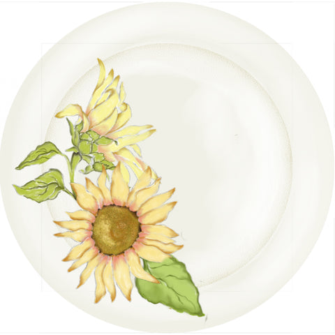 "Summer Blooms - Sunflower - 10"" Dinner Plate"