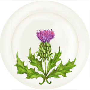 "Summer Blooms - Thistle - 10"" Dinner Plate"