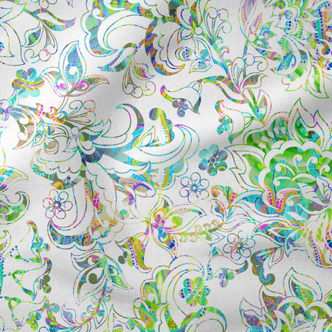 """Wild Emerald Lace"" Fabric"