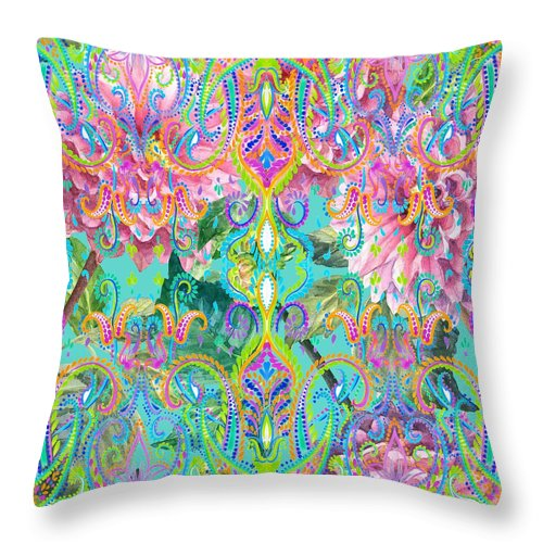 Colorful - Celia - Throw Pillow