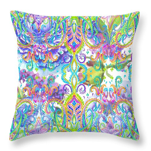Colorful - Misty - Throw Pillow