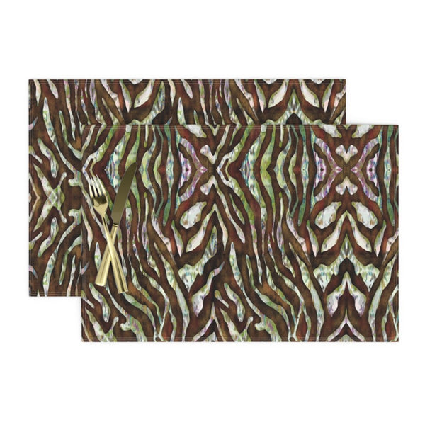 """Colorful Zebra"" Fabric"