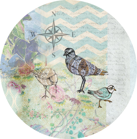 "By the Sea Plover 1 - 10"" Dinner Plate"