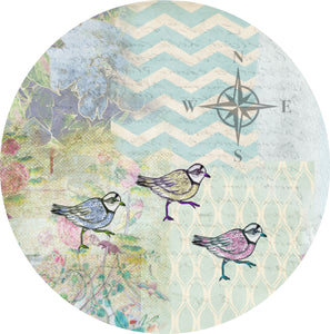 "By The Sea Plover 3- 10"" Dinner Plate"