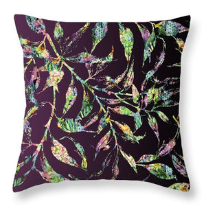 Fern - Eggplant - Throw Pillow