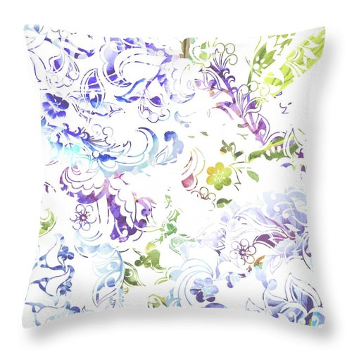 Lace - Misty Lace - Throw Pillow