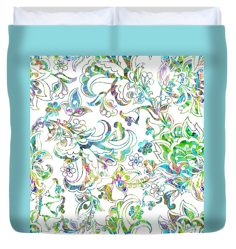 Lace - Wild Emerald - Duvet Cover