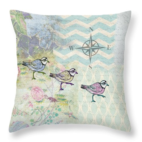 Sanctuary 3 Plovers - Throw Pillow