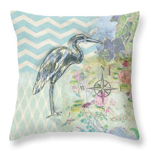 Sanctuary Heron - Throw Pillow