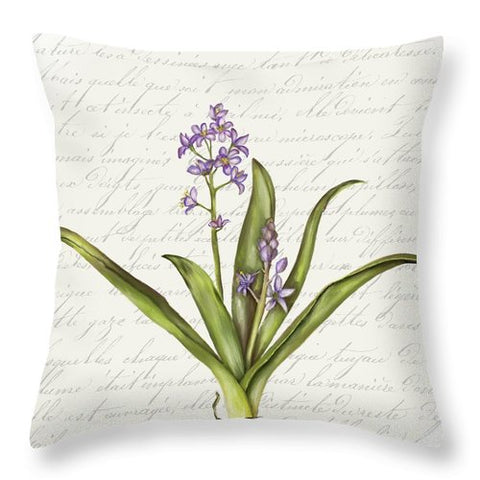 Summer Blooms - Blue Hyacinth - Throw Pillow