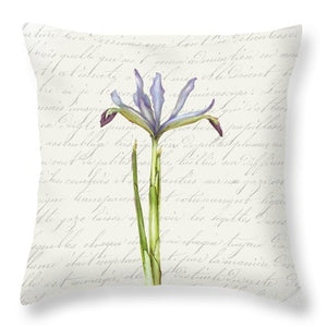Summer Blooms - Blue Iris - Throw Pillow