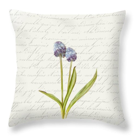 Summer Blooms - Blue Mini Globe - Throw Pillow