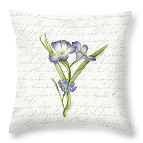 Summer Blooms - Blue Snowdrop - Throw Pillow