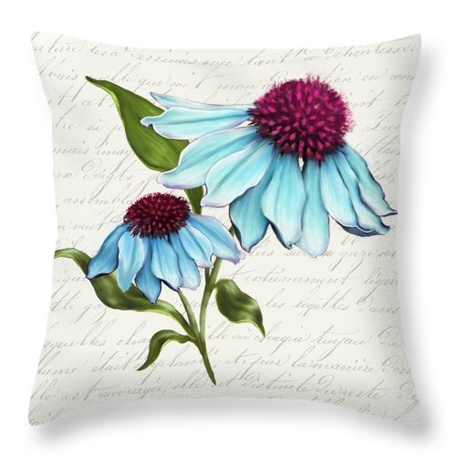 Summer Blooms - Coneflower - Throw Pillow
