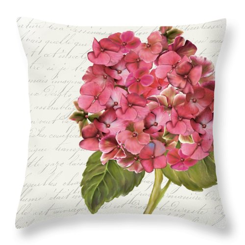 Summer Blooms - Hydrangea Rose - Throw Pillow
