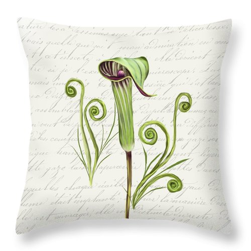 Summer Blooms - Jack-in-the-pulpit #1 - Throw Pillow