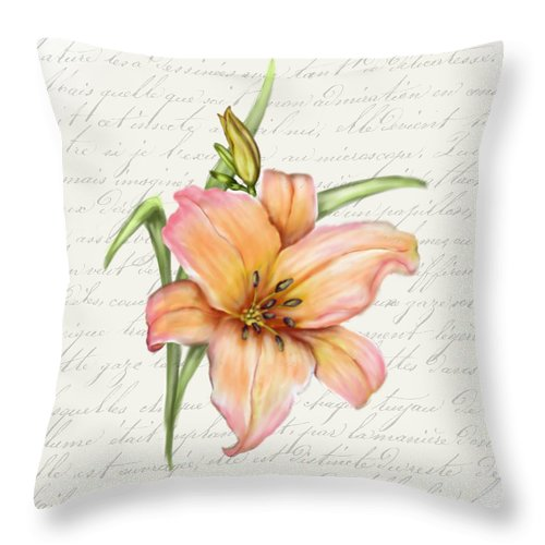 Summer Blooms - Lily - Throw Pillow