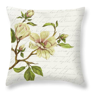 Summer Blooms - Magnolia - Throw Pillow