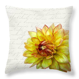 Summer Blooms - Mum Gold - Throw Pillow