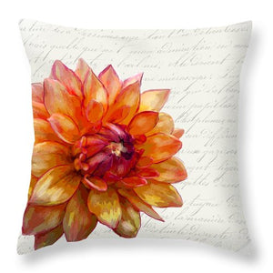 Summer Blooms - Mum Sunset - Throw Pillow
