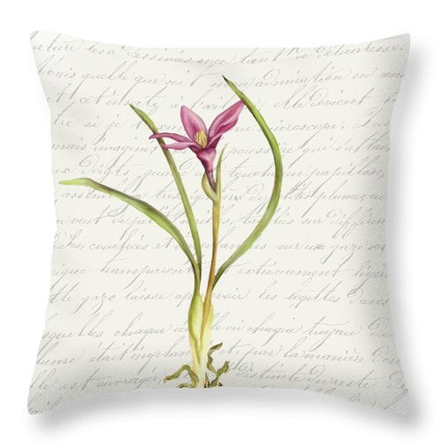 Summer Blooms - Pink Flower - Throw Pillow