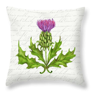 Summer Blooms - Thistle - Throw Pillow