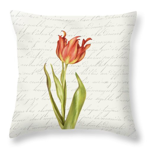Summer Blooms - Tulip Sunset - Throw Pillow