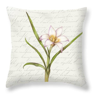 Summer Blooms - White Anemone - Throw Pillow
