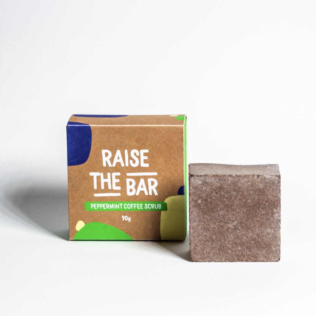 Raise The Bar Peppermint Repurposed Coffee Scrub Bar