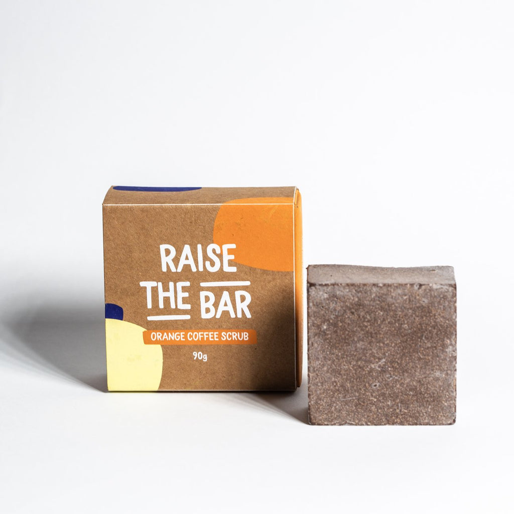 Raise The Bar Orange Repurposed Coffee Scrub Bar