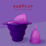 Ruby Cup Starter Pack: 2 Menstrual Cups + Steriliser - Includes  2 Cups Donation!