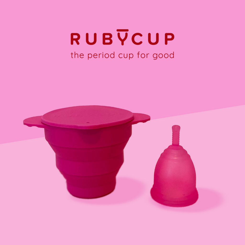 Ruby Cup Menstrual Cup & Steriliser - Includes Cup Donation!