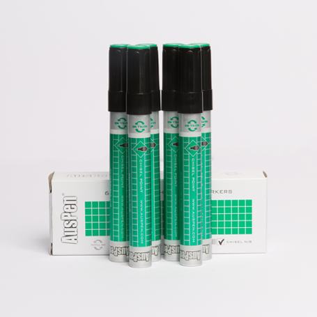 AusPen Green Whiteboard Marker Six Pack