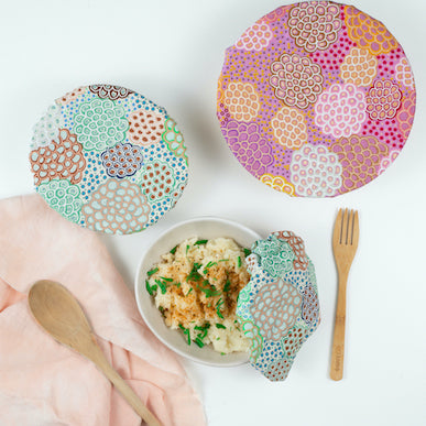 Waste Free World Reversible Bowl Covers (set of 3)