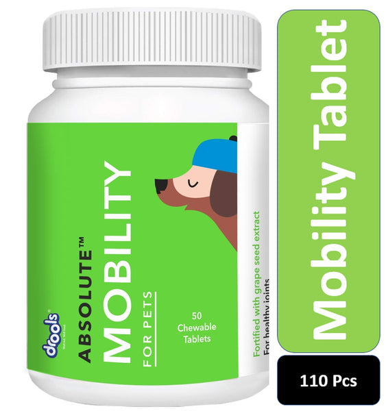 Drools Absolute Mobility Tablet Dog Supplement, 110 Pieces