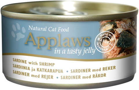 Applaws Cat Sardine With Shrimp Jelly Can 70 g