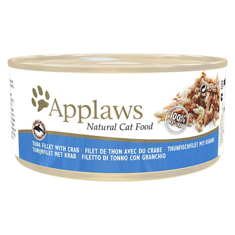 Applaws Cat Tuna Fillet & Crab Can  70 g