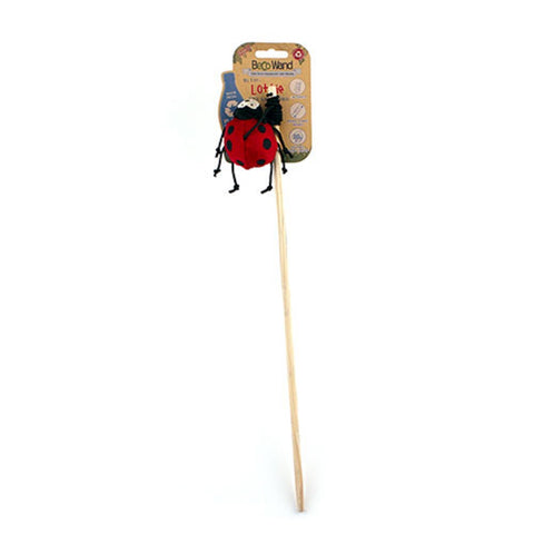 Beco Cat Wand Toy Ladybird